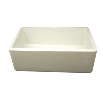 Whitehaus Farmhaus Fireclay Sink, Biscuit