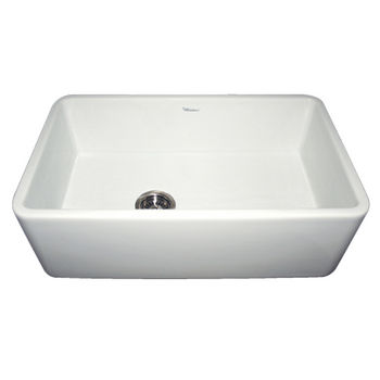 Whitehaus Farmhaus Fireclay Sink, White