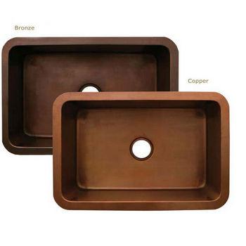 """Whitehaus Copperhaus Collection Rectangular Undermount Sink, 30""""W x 20""""D x 10""""H"""