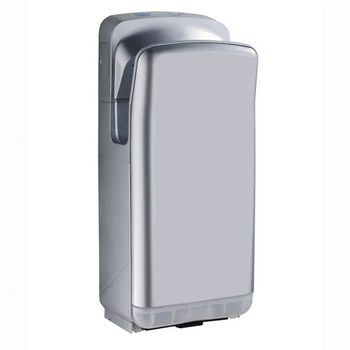 "Whitehaus Hand Dryer Series Hands-Free Wall Mount Hand Dryer in Gray, 11-1/2"" W x 8-3/4"" D x 27"" H"