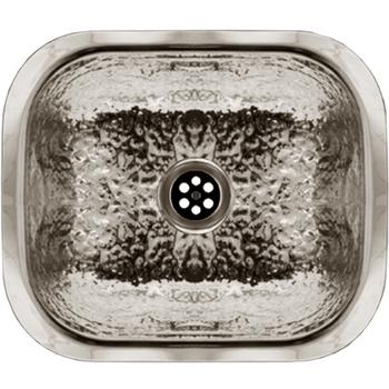 Whitehaus - Hammered Texture Entertainment/Prep Sink, Hammered Stainless Steel