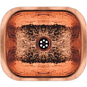 Whitehaus - Hammered Texture Entertainment/Prep Sink, Hammered Copper