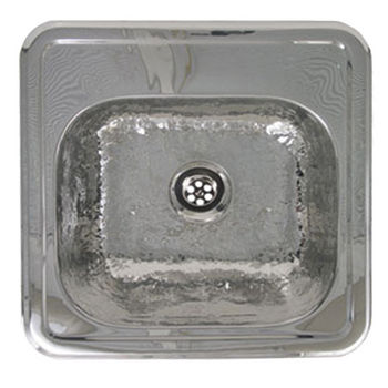 Whitehaus - Entertainment/Prep Sink, Hammered Stainless Steel
