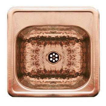 Whitehaus - Entertainment/Prep Sink, Hammered Copper
