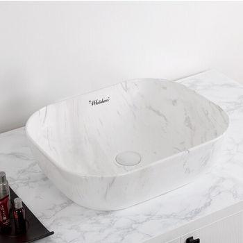 Carrara Marble Finish, White Background