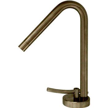 Whitehaus Metrohaus Single Hole Faucet with 45º Swivel Spout, Polished Chrome