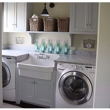 Drop In Laundry Room Sink.Fireclay Drop In With Wall Mount Faucet Utility Sink In