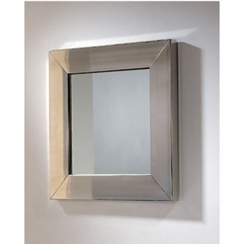 Whitehaus New Generation Square Mirror w/Stainless Steel Frame