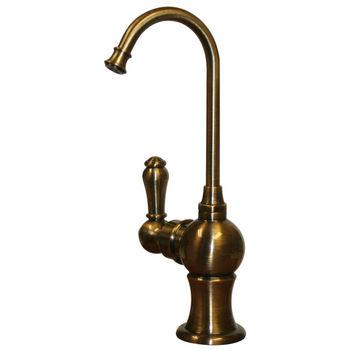 Whitehaus - Forever Hot Kitchen Faucet, Antique Brass