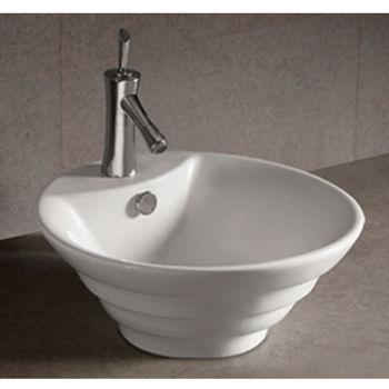 Isabella Round Stepped Above-Mount Bath Sink