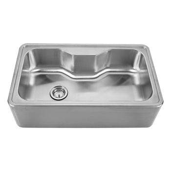 """Noah Collection - Single Bowl Drop-In Sink, 33-1/2"""" W x 19-3/4"""" D x 9"""" H, No Hole"""