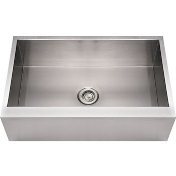 Noah Collection - Commercial Single Bowl Sink, Brushed Stainless Steel