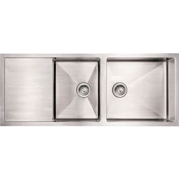 Noah Collection - Commercial Sink with Drainboard, Brushed Stainless Steel