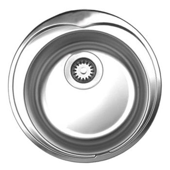 "Noah Collection - Large Round Drop-In Sink, 20"", No Hole"