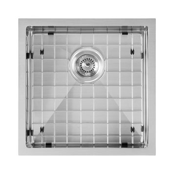 Brushed Stainless Steel  - With Grid