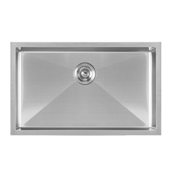 Brushed Stainless Steel  - Top View