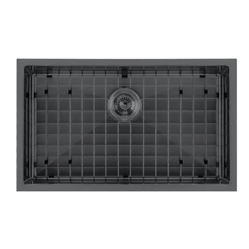 Matte Black  - With Grid