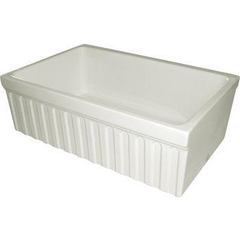 "Whitehaus - Farmhaus Quatro Alove Reversible Fireclay Sink, 30"" W x 20"" D x 10"" H, Biscuit"