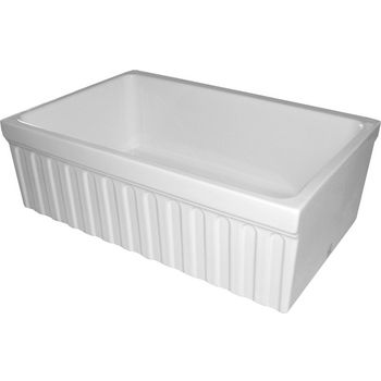 "Whitehaus - Farmhaus Quatro Alove Reversible Fireclay Sink, 30"" W x 20"" D x 10"" H, White"
