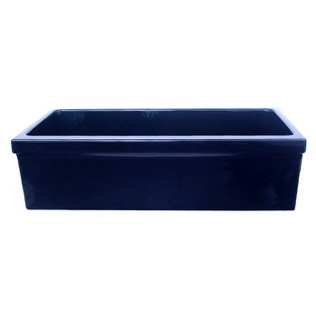 Whitehaus Quatro Alcove Reversible Kitchen Sink, Blue