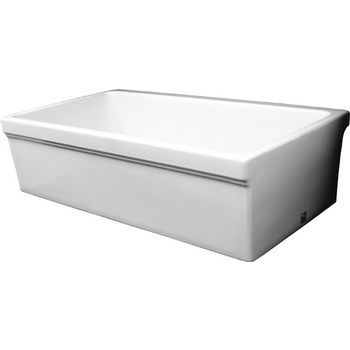 Whitehaus Quatro Alcove Reversible Kitchen Sink, White