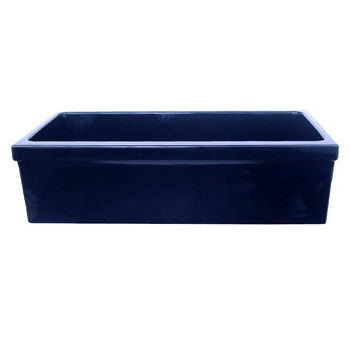 Whitehaus - Reversible Quatro Alcove Sink, Sapphire Blue