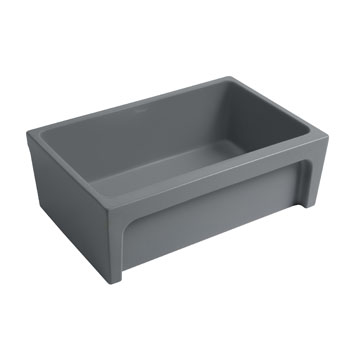 2'' Lip Sink in Matte Cement Display View 2