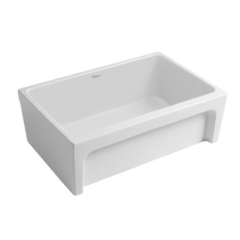 2'' Lip Sink in Matte White Display View 2