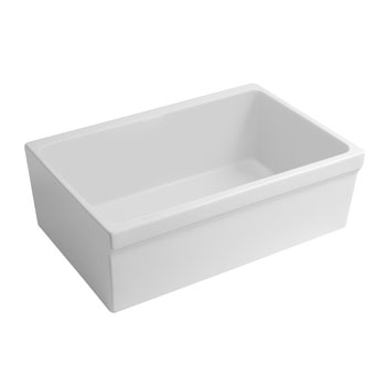 Beveled Sink in Matte White Display View 3