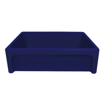 Beveled Sink in Sapphire Blue Display View 3