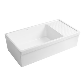 2-1/2'' Lip Sink in Matte White Display View 2
