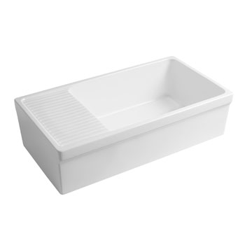 2-1/2'' Lip Sink in Matte White Display View 1