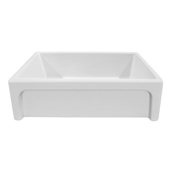 Beveled Sink in White/ Platinum Display View 3