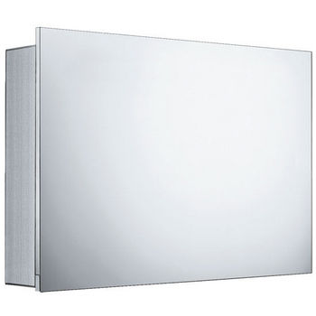 Whitehaus Single Two Sided Vertically Opening Mirrored Door Medicine Cabinet
