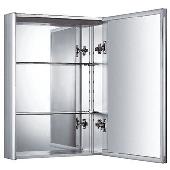 Whitehaus Vertical Wall Mount Medicine Cabinet with Mirrored Door