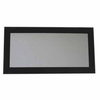 Whitehaus Aeri Rectangular Shaped Mirror, Laminated Black Glass Frame, 39-1/4''D x 19-3/4''H