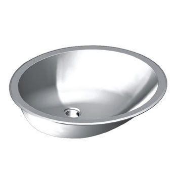 Wells Sinkware Jazz Series 20 Gauge Stainless Steel Single Bowl Undermount/Topmount Lavatory Sink