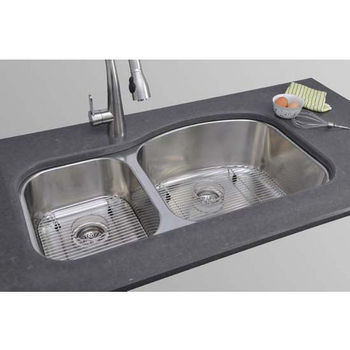 Kitchen Double Bowl Stainless Undermount Sink Lb