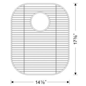 Wells Sinkware Stainless Steel Sink Bottom Grid for 16 Gauge Sinks