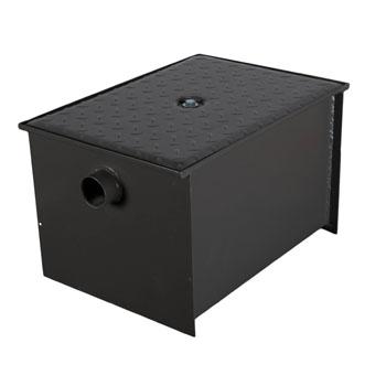 Wells Sinkware Wentworth Floor Mount 11 Gauge Carbon Steel Grease Trap in 30 lbs. / 15 GPM Capacity