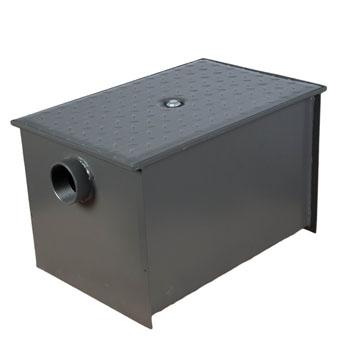 Wells Sinkware Wentworth Floor Mount 11 Gauge Carbon Steel Grease Trap in 40 lbs. / 20 GPM Capacity