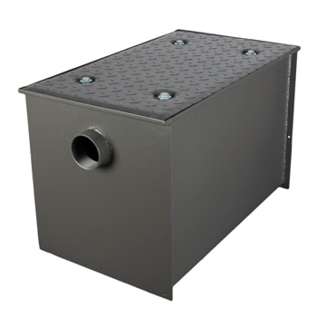 Wells Sinkware Wentworth Floor Mount 11 Gauge Carbon Steel Grease Trap in 70 lbs. / 35 GPM Capacity