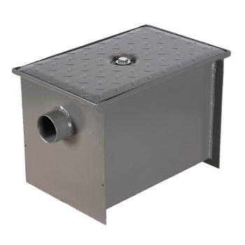 Wells Sinkware Wentworth Floor Mount 11 Gauge Carbon Steel Grease Trap in 8 lbs. / 4 GPM Capacity