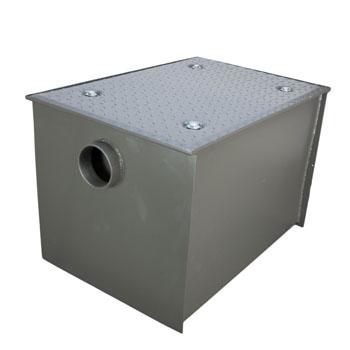 Wells Sinkware Wentworth Floor Mount 11 Gauge Carbon Steel Grease Trap in 100 lbs. / 50 GPM Capacity