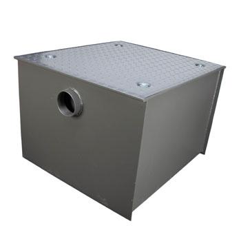Wells Sinkware Wentworth Floor Mount 11 Gauge Carbon Steel Grease Trap in 150 lbs. / 75 GPM Capacity