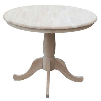 "36"" Round Extension Table, 48""W x 36""D x 30""H"