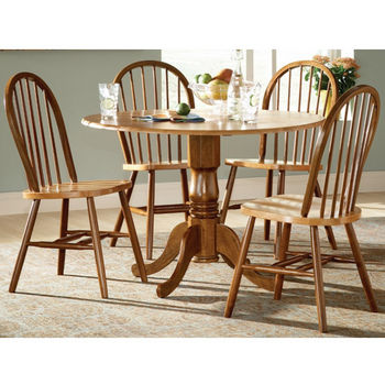 "International Concepts - 42"" Round Dual Drop Leaf Pedestal Table Sets"