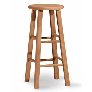 "International Concepts - 30"" Round Top Backless Stool, 13 1/4"" W x 13 1/4"" D x 30"" H"