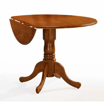 "International Concepts - 42"" Round Dual Drop Leaf Pedestal Tables"