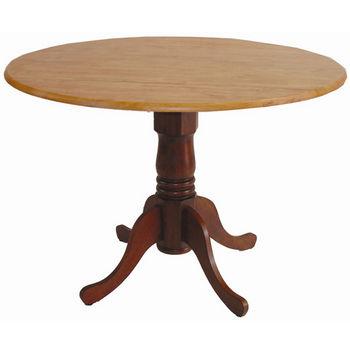 "International Concepts - 42"" Round Dual Drop Leaf Pedestal Tables"